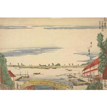 渡辺省亭: View of Ushijima and the Sumida River at Asakusa in the Eastern Captial from the Entrance to the San'ya Canal - ウィスコンシン大学マディソン校