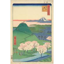 歌川広重: The New Mt. Fuji in Meguro, no. 24 from the series One-hundred Views of Famous Places in Edo - ウィスコンシン大学マディソン校