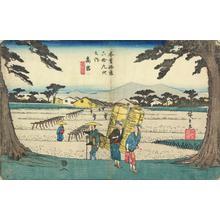 歌川広重: Takamiya, no. 65 from the series The Sixty-nine Stations of the Kisokaido - ウィスコンシン大学マディソン校