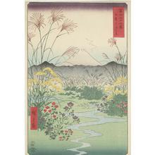 Utagawa Hiroshige: The Otsuki Plain in Kai Province, no. 31 from the series Thirty-six Views of Mt. Fuji - University of Wisconsin-Madison