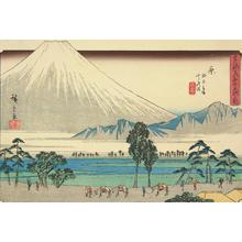 歌川広重: Fuji Marsh and Kashiwabara, no. 14 from the series Fifty-three Stations of the Tokaido (Gyosho Tokaido) - ウィスコンシン大学マディソン校