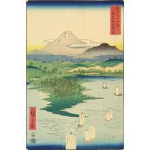 歌川広重: Noge and Yokohama in Musashi Province, no. 15 from the series Thirty-six Views of Mt. Fuji - ウィスコンシン大学マディソン校