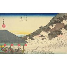歌川広重: Kiyomizu Temple, from the series Famous Places in Kyoto - ウィスコンシン大学マディソン校