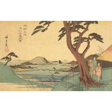 歌川広重: View of Kanazawa in Musashi Province, from the series Famous Places in Japan - ウィスコンシン大学マディソン校