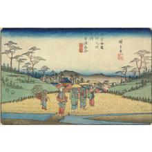 歌川広重: The Crossroads at Kusatsu, no. 69 from the series The Sixty-nine Stations of the Kisokaido - ウィスコンシン大学マディソン校