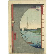 Utagawa Hiroshige: View from Massaki of the Suijin Grove, Uchi River and Sekiya, no. 36 from the series One-hundred Views of Famous Places in Edo - University of Wisconsin-Madison