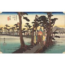 Utagawa Hiroshige: Yoshiwara, no. 15 from the series Fifty-three Stations of the Tokaido (Hoeido Tokaido) - University of Wisconsin-Madison