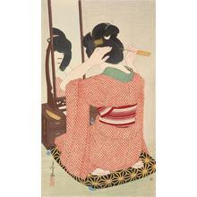 Hirano Hakuho: Woman Kneeling Before a Mirror - ウィスコンシン大学マディソン校