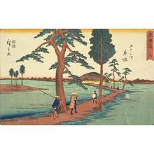 歌川広重: Hiratsuka, no. 8 from the series Fifty-three Stations of the Tokaido (Marusei or Reisho Tokaido) - ウィスコンシン大学マディソン校