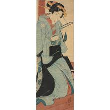 Keisai Eisen: Kneeling Geisha Holding a Letter - University of Wisconsin-Madison