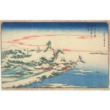 歌川広重: New Year's Sunrise with Snow at Susaki, from the series Famous Places in the Eastern Capital - ウィスコンシン大学マディソン校