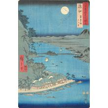 歌川広重: Ishiyamadera and Lake Biwa in Omi Province, no. 22 from the series Pictures of Famous Places in the Sixty-odd Provinces - ウィスコンシン大学マディソン校