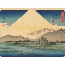 歌川広重: Fuji Marsh in Suruga Province, no. 19 from the series Thirty-six Views of Mt. Fuji - ウィスコンシン大学マディソン校