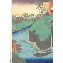 歌川広重: Taki River at Oji, no. 88 from the series One-hundred Views of Famous Places in Edo - ウィスコンシン大学マディソン校