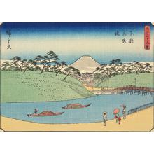 Utagawa Hiroshige: Aquaduct Bridge in the Eastern Capital, no. 26 from the series Thirty-six Views of Mt. Fuji - University of Wisconsin-Madison