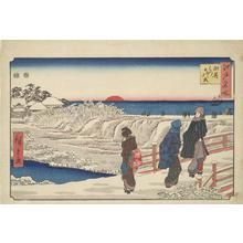 歌川広重: New Year's Sunrise at Susaki, from the series Famous Places in Edo - ウィスコンシン大学マディソン校