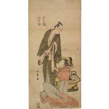 長喜: The Courtesan Koharu and the Paper Merchant Jihei, from a series of Couples from Tragic Plays - ウィスコンシン大学マディソン校