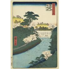 Utagawa Hiroshige: The Dam on the Otonashi River at Oji, Commonly Called the Great Waterfall, no. 19 from the series One-hundred Views of Famous Places in Edo - University of Wisconsin-Madison