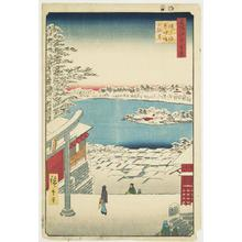 歌川広重: Hilltop View from Yushima Tenjin Shrine, no. 117 from the series One-hundred Views of Famous Places in Edo - ウィスコンシン大学マディソン校