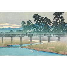 川瀬巴水: Asano River, Kanazawa, from the series Souvenirs of Travel, First Series - ウィスコンシン大学マディソン校