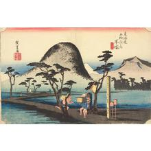 Utagawa Hiroshige: The Nawate Road at Hiratsuka, no. 8 from the series Fifty-three Stations of the Tokaido (Hoeido Tokaido) - University of Wisconsin-Madison