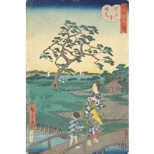 Utagawa Hiroshige II: Haze on a Clear Day at Sekiya Village, from the series Eight Views of the Sumida River - University of Wisconsin-Madison