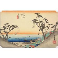 Utagawa Hiroshige: The Ocean-view Slope near Shirasuka, no. 33 from the series Fifty-three Stations of the Tokaido (Hoeido Tokaido) - University of Wisconsin-Madison