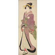 Kikugawa Eizan: Standing Geisha with a Toothpick in Her Mouth - University of Wisconsin-Madison