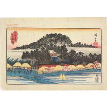 歌川広重: The Inari Shrine at Oji, from the series Famous Places in Edo - ウィスコンシン大学マディソン校