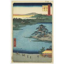 Utagawa Hiroshige: Kesakake Pine at Senzoku Pond, no. 110 from the series One-hundred Views of Famous Places in Edo - University of Wisconsin-Madison