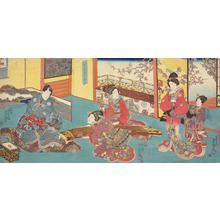 Utagawa Kunisada: The Spring Music of the Koto Attracts Fragance - University of Wisconsin-Madison
