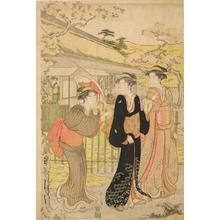Hosoda Eishi: Three Women Strolling in a Garden - University of Wisconsin-Madison