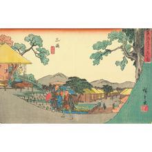 歌川広重: Mishima, no. 12 from the series Fifty-three Stations of the Tokaido (Gyosho Tokaido) - ウィスコンシン大学マディソン校