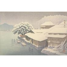 Kawase Hasui: Ishinomaki in the Snow, from the series Collection of Scenic Views of Japan, Eastern Japan Edition - University of Wisconsin-Madison