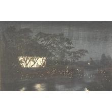 小林清親: The Koromo River Below Tennoji - ウィスコンシン大学マディソン校