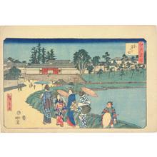 歌川広重: Outer Sakurada, from the series Famous Places in Edo - ウィスコンシン大学マディソン校