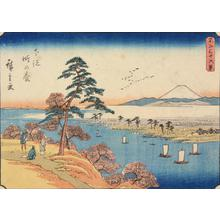 Utagawa Hiroshige: Konodai in Shimosa Province, no. 15 from the series Thirty-six Views of Mt. Fuji - University of Wisconsin-Madison