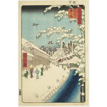 Utagawa Hiroshige: Yabukoji below Atago, no. 112 from the series One-hundred Views of Famous Places in Edo - University of Wisconsin-Madison