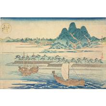 Yashima Gakutei: A View of Mt. Tempo from the Aji River in Osaka, from the series Views of Mt. Tempo, a Famous Site in Osaka - University of Wisconsin-Madison