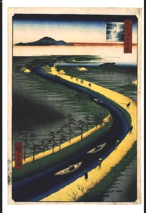 Utagawa Hiroshige: One Hundred Famous Views of Edo: Towboats on the Yotsugi Road Canal - Edo Tokyo Museum