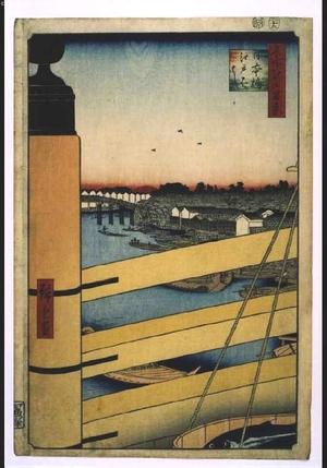 歌川広重: 'One Hundred Famous Views of Edo: Nihonbashi Bridge and Edobashi Bridge - 江戸東京博物館