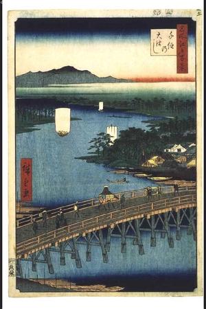 Utagawa Hiroshige: One Hundred Famous Views of Edo: The Great Bridge at Senju - Edo Tokyo Museum