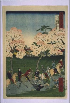 一景: Forty-Eight Famous Views of Tokyo: Sumida Embankment with Tsuzuki Mokubo-ji Temple in the Distance - 江戸東京博物館