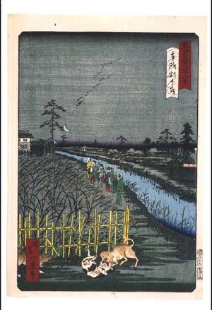 一景: Forty-Eight Famous Views of Tokyo: Warigesui Canal, Honjo - 江戸東京博物館