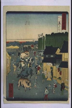 一景: Forty-Eight Famous Views of Tokyo: Kyobashi Area - 江戸東京博物館