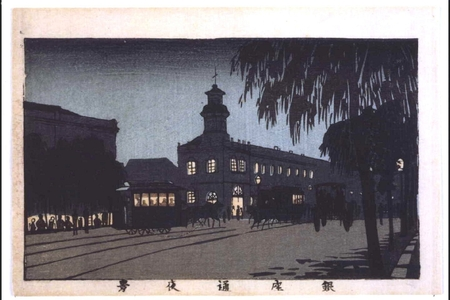 井上安治: True Pictures of Famous Places in Tokyo: Night View of Ginza Dori - 江戸東京博物館