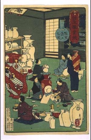 Toshikazu: Depictions of Various Industries: Decorating Pottery - 江戸東京博物館