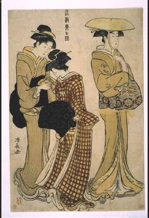 鳥居清長: Colored Picture of Edo Customs: Three Women - 江戸東京博物館