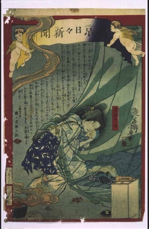 落合芳幾: Tokyo Nichinichi Shimbun Newspaper - 江戸東京博物館