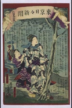 Ochiai Yoshiiku: Tokyo Nichinichi Shimbun Newspaper, No. 694 - Edo Tokyo Museum